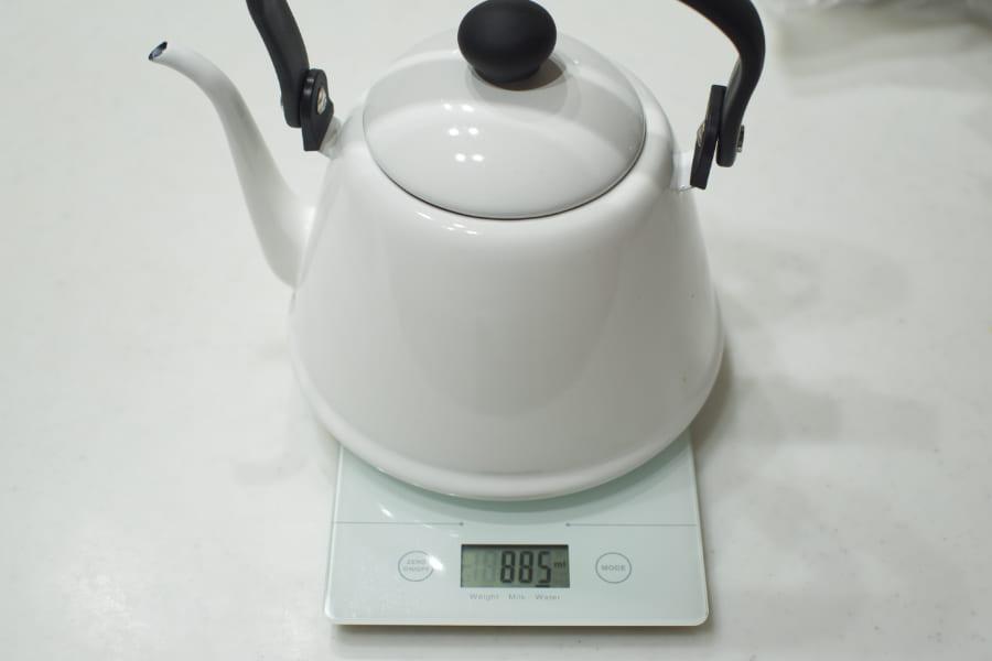 重さの計測画像