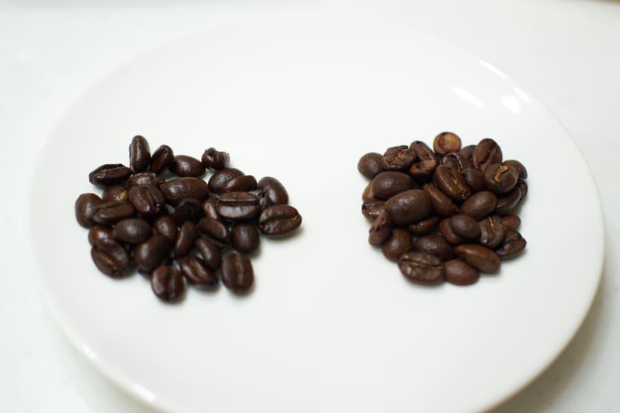 コーヒー豆の拡大画像
