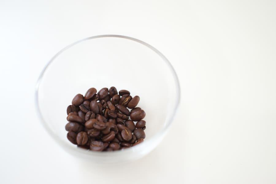 露光を大きめに撮影した豆