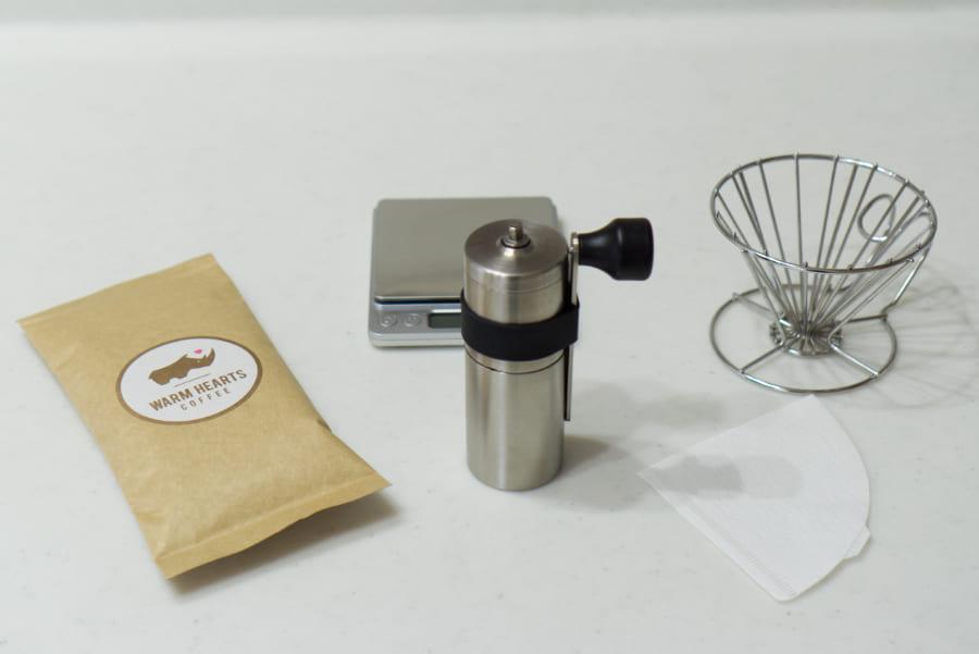 マラウイコーヒーをハンドドリップで淹れる