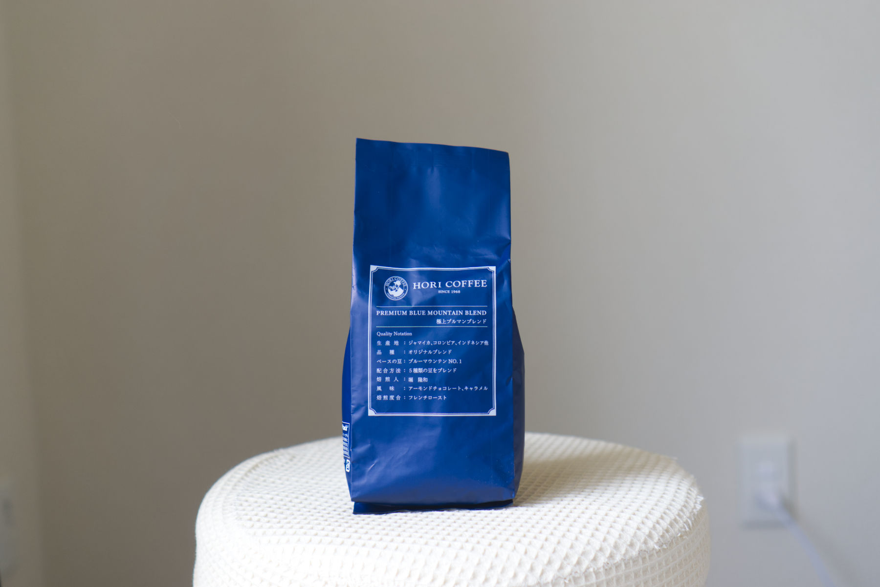 HORI COFFEEブルーマウンテンのパッケージ